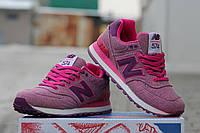 Женские кроссовкиNew balance encap 574, темно розовые / кроссовки  женские  Нью Беланс инкап,  стильные
