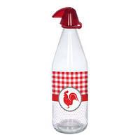 Стеклянная бутылка для воды herevin Петух 1 л с пластиковой крышкой (111643-000)