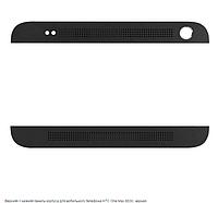 Верхняя + нижняя панель корпуса для мобильного телефона HTC One Max 803n, черная