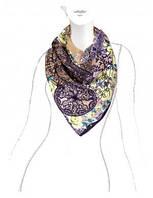 Платок женский 100% шелк в 4х цветах E04-7085 Eleganzza