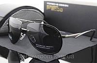 Солнцезащитные очки в стиле Porsche Design c поляризацией (p-8501) серебрянная оправа