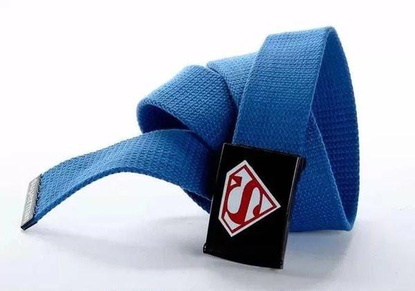 Текстильный ремень для джинсов голубой S