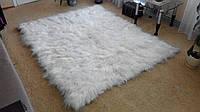 Ковер из шкурок исландской овчины с подкладкой (белый)