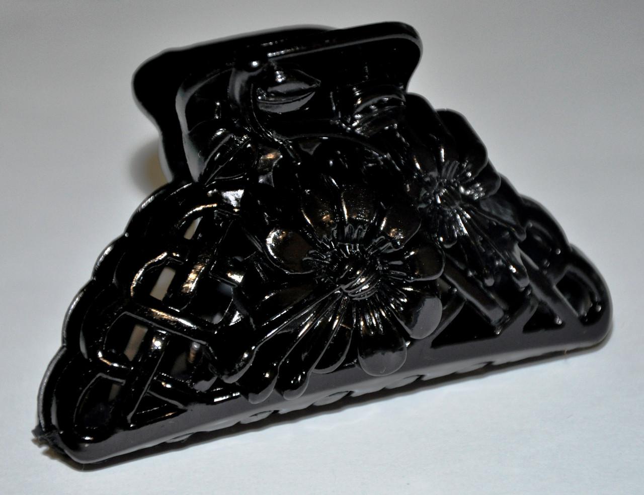 Глянцевые черные Крабы для волос (12 шт)