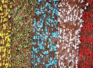 Веточка с почками 200 шт(красная,голубая,желтая,зеленая)