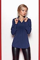 Молодежная модная блуза на пуговицах с манжетами