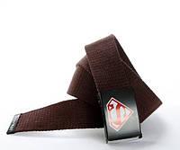 Текстильный ремень для джинсов коричневый S