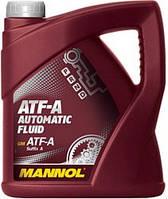 Трансмиссионное масло  ATF-A AUTOMATIC FLUID MANNOL  4л