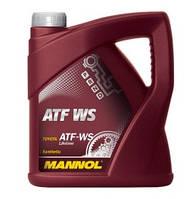 Трансмиссионное масло ATF WS (для трансмиссий Toyota с контролем скольжения передач) MANNOL 4л