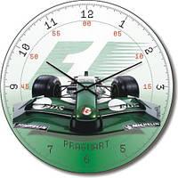 Часы настенные из стекла - формула 1(немецкий механизм)
