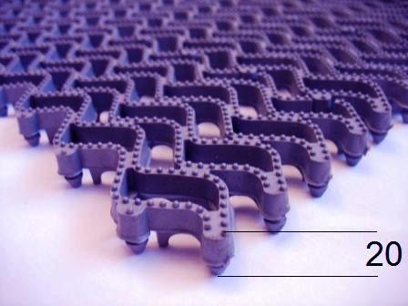«Тетра-20» грязезащитный модульный коврик для автомоек