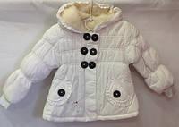 Белая куртка для девочки 1-3 года
