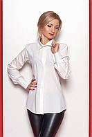 Классическая блуза белого цвета с длинным рукавом