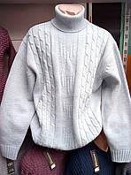Мужской качественный теплый свитер гольф 56 рр