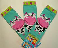 Хлопковые носки c 3D мятного цвета с коровой детские