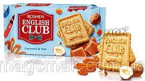 Печенье English Club, карамель - орех, Roshen, 112г