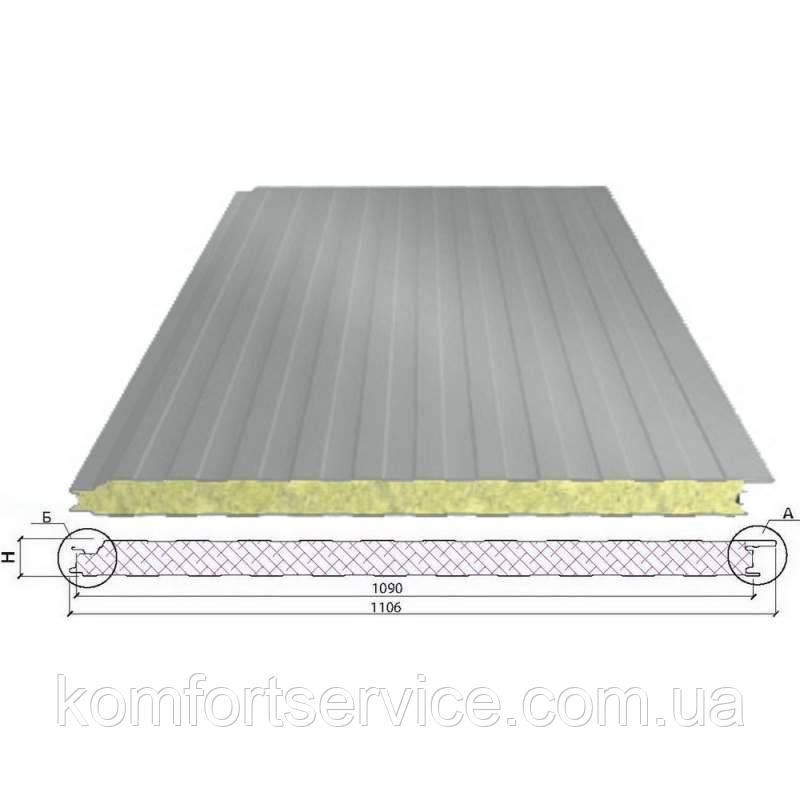Сэндвич-панели ППС стеновые (Пенополистирол)  - 50 мм