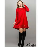 Женское красное  платье  Лучия    Olis-Style 46-52 размеры