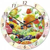 Часы настенные из стекла - фруктовые (немецкий механизм)