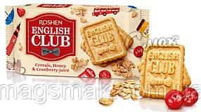 Печенье English Club с овсяными хлопьями, мёдом и клюквенным соком, Roshen, 112г