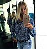 Женская джинсовая рубашка с разным принтом. Ч-2-0217 , фото 2