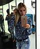 Женская джинсовая рубашка с разным принтом. Ч-2-0217 , фото 3