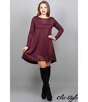 Женское бордовое  платье  Лучия    Olis-Style 46-52 размеры