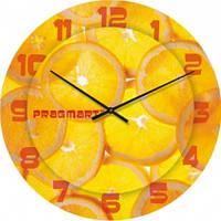 Часы настенные из стекла - апельсин(немецкий механизм)
