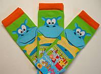 Носки с 3D салатового цвета с бегемотом детские