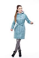 Пальто-куртка длинная женская весенне-осеннее размеры 48-60, синее красное молочное марсала розовое