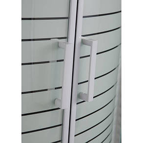 TISZA (AMUR) душевая кабина EGER угловая  90*90*200, на мелком поддоне 15 см,  профиль белый, фото 2