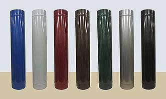 Сэндвич труба из нержавеющей стали в кожухе из полимера глянцевого диаметр 140/210  0,6/0,6мм  AISI 430