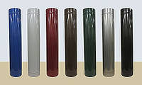 Сэндвич труба из нержавеющей стали в кожухе из полимера глянцевого  диаметр 270/340  0,6/0,6мм  AISI 430