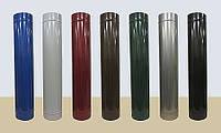 Сэндвич труба из нержавеющей стали в кожухе из полимера глянцевого диаметр 140/210 0,8/0,6мм AISI 304