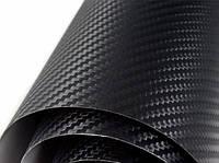 Карбоновая пленка черная 127х100см