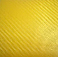 Карбоновая пленка желтая 127х100см