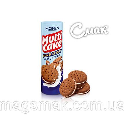 Крекер Roshen Multicake c молочо - кремовой начинкой, 135 г, фото 2