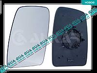 Вкладыш зеркала заднего вида левый без подогрева (выпукл.) M-971G-L Opel MOVANO 2010-, Renault MASTER IV 2010-, Vauxhall MOVANO 2010-