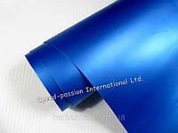 Пленка виниловая синий мат  с микроканалами