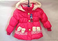 Малиновая куртка с бантиками весна опт