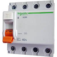 Дифференциальное реле BД63 3P+N, 30mА, 40А, тип АС Schneider Electric