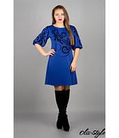 Трикотажное женское платье  Каролина электрик   Olis-Style 44-52 размеры