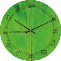 Часы настенные из стекла - лайм (немецкий механизм)