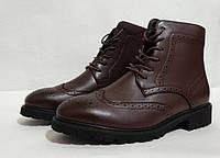 Ботинки мужские Oxford, цвет - марсала, материал - кожа, подошва - полиуретан