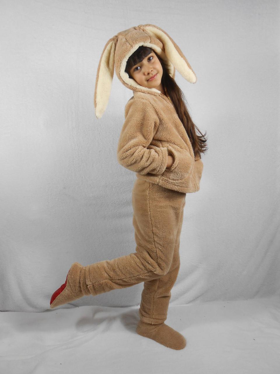 Детская махровая пижама-костюм с ушами -