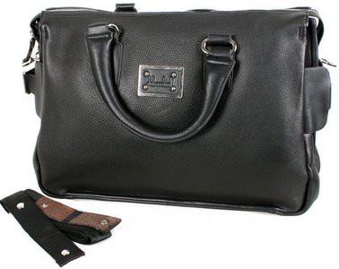 Чоловіча сумка 600-130 зі штучної шкіри 18 л,чорна