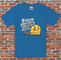 Мужская Футболка Pancakes Adventure Time Jake