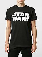 "Мужская   черная  Футболка Black Star Wars Logo """" В стиле Marvel """""