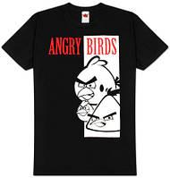 Футболка мужская с принтом Angry birds - bird face
