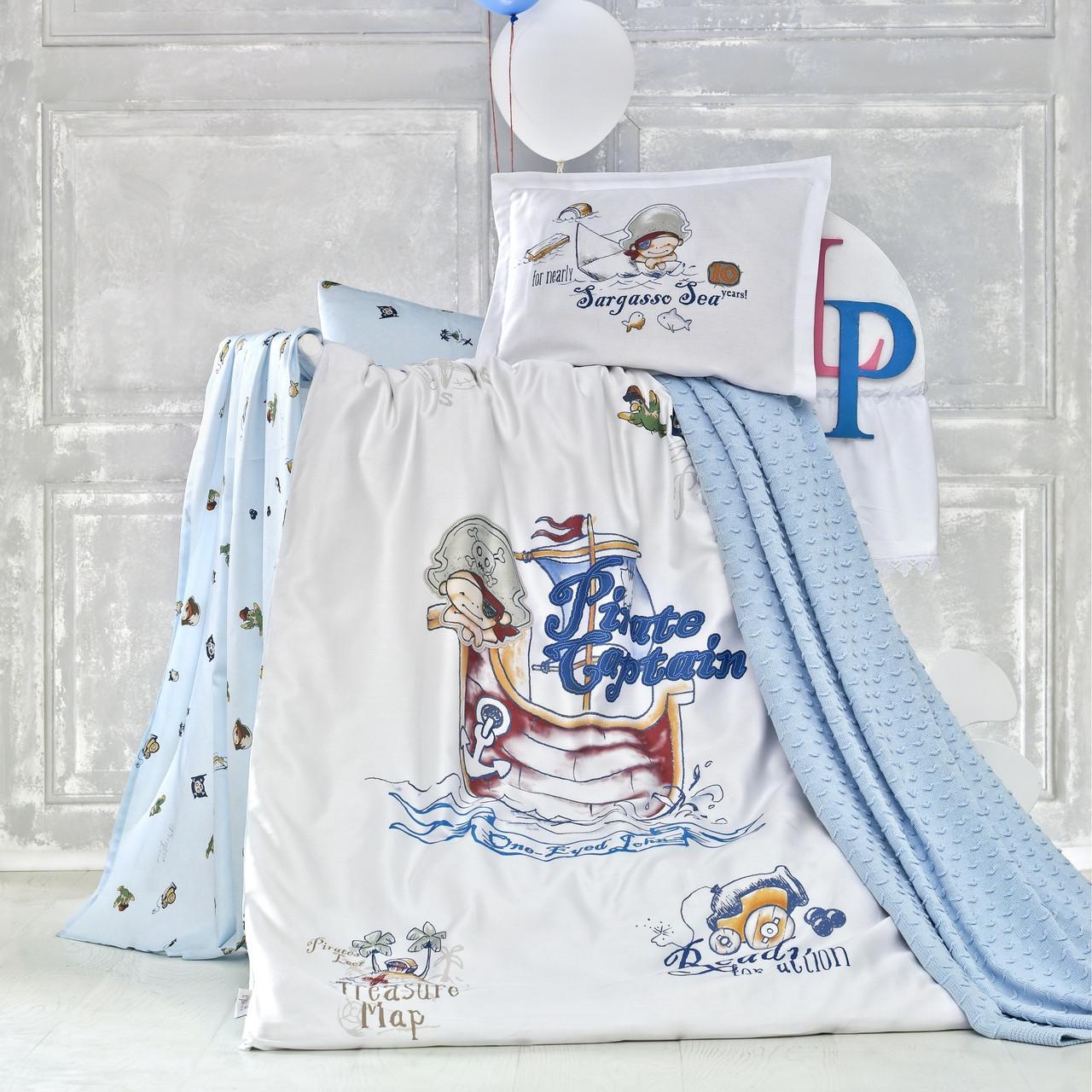 Комплект детского постельного белья с пледом Pirates, Luoca Patisca